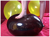 Video clip for sale of Michelle toe-toying with balloons