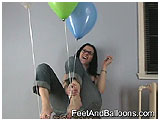 Video clip for sale of Mina toying with helium-filled balloons